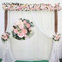 JAROWN Artificial Rose Flower Row Small Corner Flowers Simulation Silk Fake Flowers Wedding DIY Decor Home Garland Decor Flores