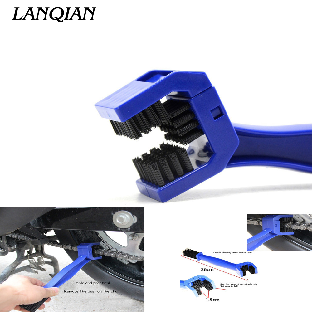 LANQIAN Universal Motorcycle Bike Chain Maintenance Cleaning Brush For YAMAHA YZF R1