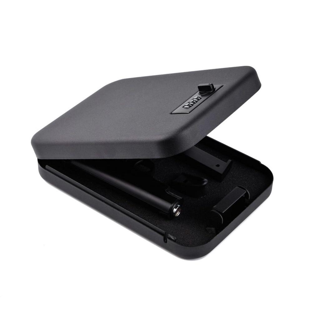 Passwort Safes Tragbare Auto Safebox Gun Safes Wertsachen Geld Schmuck Lagerung Box Sicherheit Strongbox 1mm Kalt gewalztem Stahl blatt