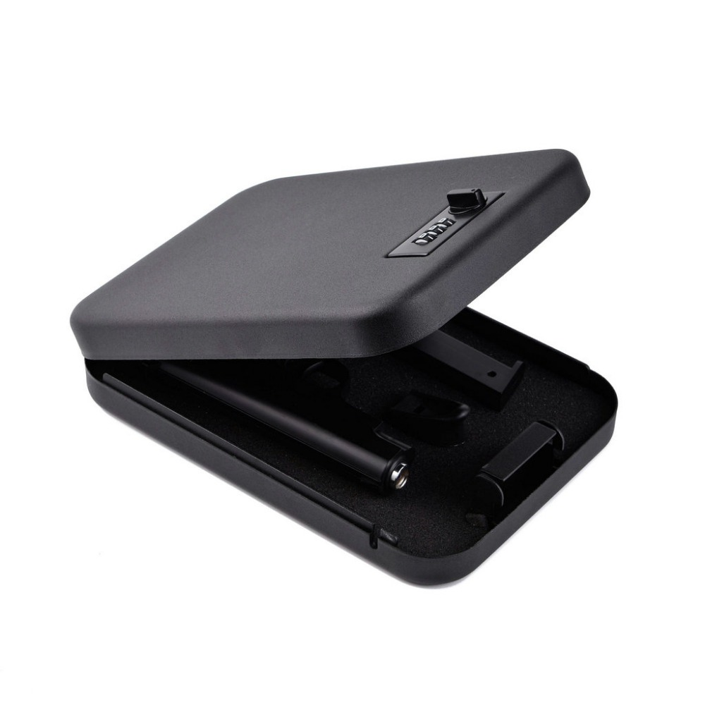 senha cofres de seguranca do carro portatil cofres arma objetos de valor dinheiro caixa de armazenamento