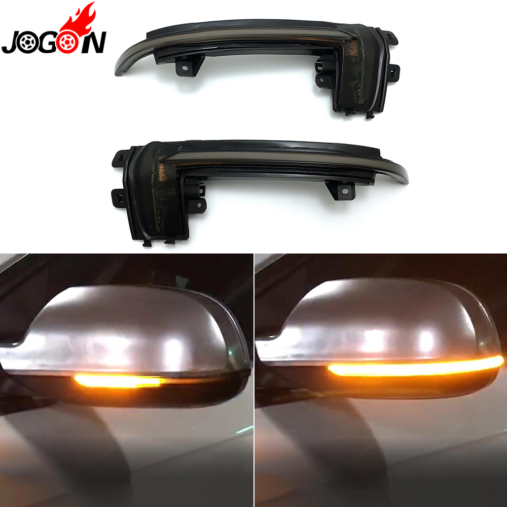 For Audi A3 S3 8P 10- 2012 A4 S4 RS4 B8 8K ( B8.5 ) A5 S5 RS5 2011-2015 Side Wing Mirror Indicator Dynamic Turn Signal LED Light cafoucs car door wing rearview mirror led turn signal light side indicator lamp for audi a4 b8 a6 c6 a3 a5 a8 q3 2008 2011