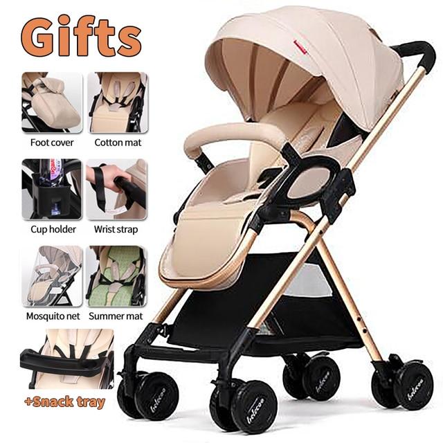 Baby stroller can sit reclining shock absorber umbrella high landscape folding BB hand new listing can sit reclining light high