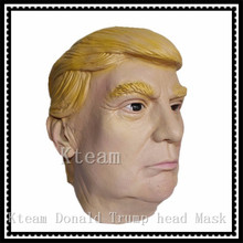 Christmas Party Cosplay Famous Celebrity Character Royals Comedians TV Presenters Props Donald Trump Overhead Masks in stock