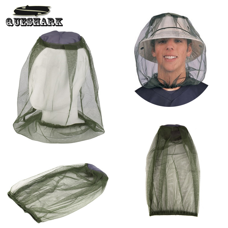 New Midge Mosquito Insect Fishing Hat Bug Mesh Head Net Face Protector Hiking Camping Hedging Anti-mosquito Cap Free Shipping