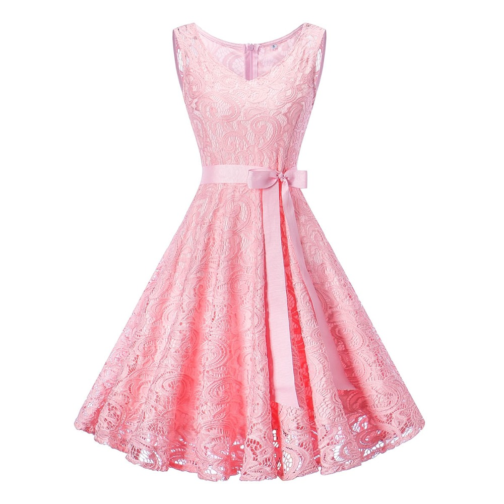 15-20Yrs Teenagers Girls Dress For Christmas Party Dress Wear High quality Sleeveless Lace V Neck Girls Clothing For Summer 10