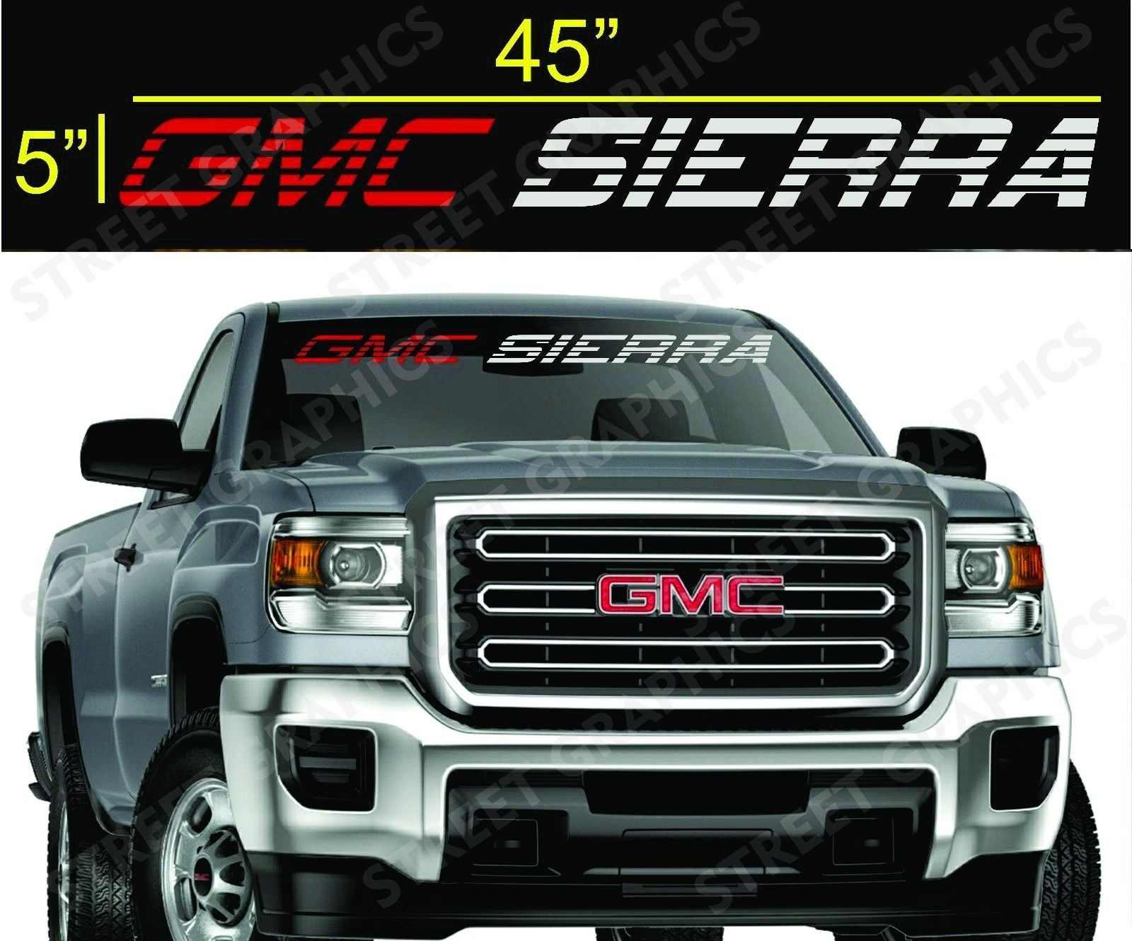 Для GMC SIERRA лобовое стекло виниловая переводная наклейка для автомобиля Стайлинг