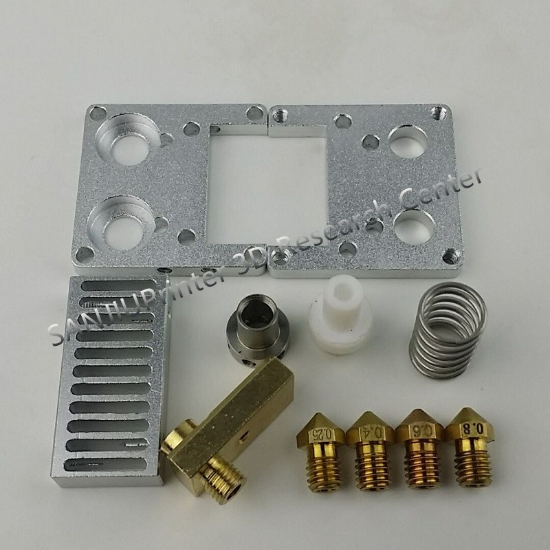 ФОТО Ultimaker 2 Extended+ UM2+ Olsson Block Nozzle Kit With Heat Sink Hotend Header Kit For DIY 3D Printer 3mm Filament