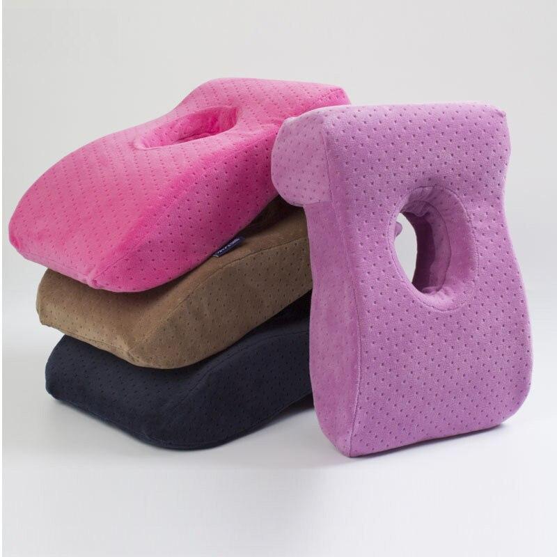 Multifunctional Travel Memory pillow Office Nap Pillow L shape Slow Rebound Memory Foam  ...