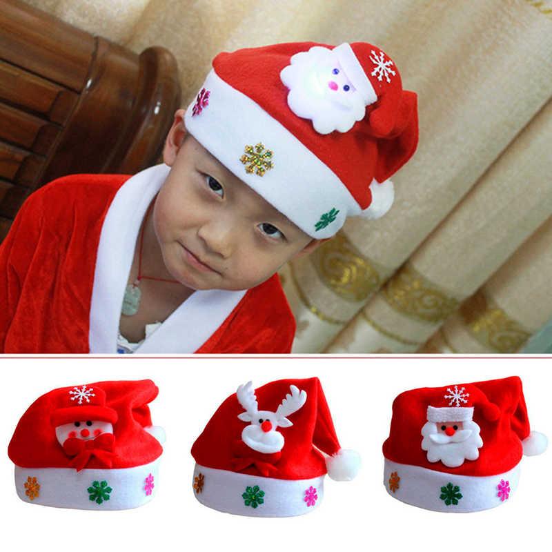 dbb59f637 ... Hat Baby Christmas Santa Claus Cap Kids Hat Newborn Photography Girls  Boy Winter ...