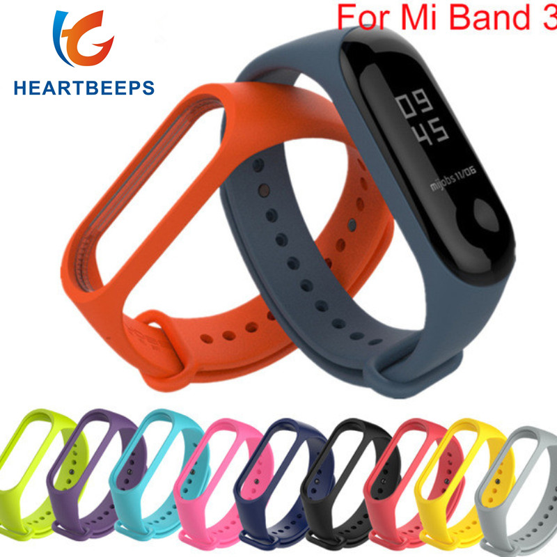 Xiaomi Mi Band 3 Strap miband 3 correa Sport Silicone Strap For xiaomi mi band 3 Replacement Wristband for Mi band 3 Smart Band billy's band