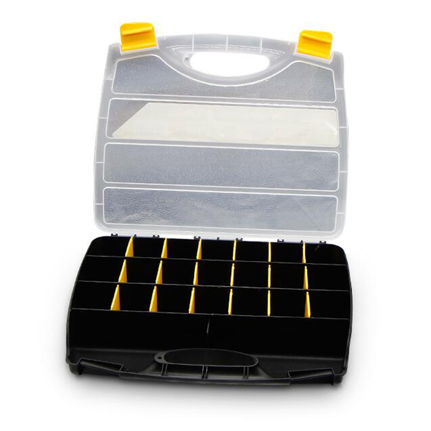 Купить с кэшбэком 15/21 grids Portable parts box metal screw storage tool box hardware parts screwdriver repair vehicle hand tool