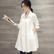 Maternity Shirts Clothing Long-sleeve Blouses Spring Summer Plus Size Top Clothes for Pregnant Women
