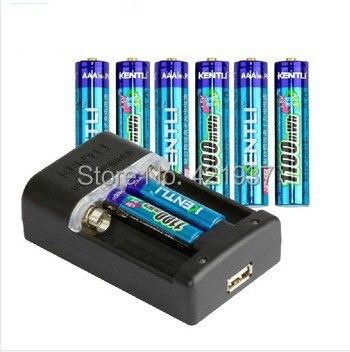 Бесплатная доставка KENTLI 8 шт. AAA батарея 1,5 в 1100mWh AAA литий ионная полимерная литиевая батарея + 1 шт. быстрое зарядное устройство