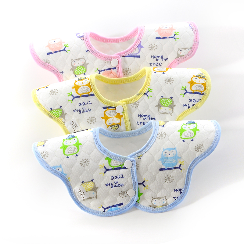 2018 new Baby Products Eco Cotton Flower Bib Bib Baby Cotton Mouth Towel