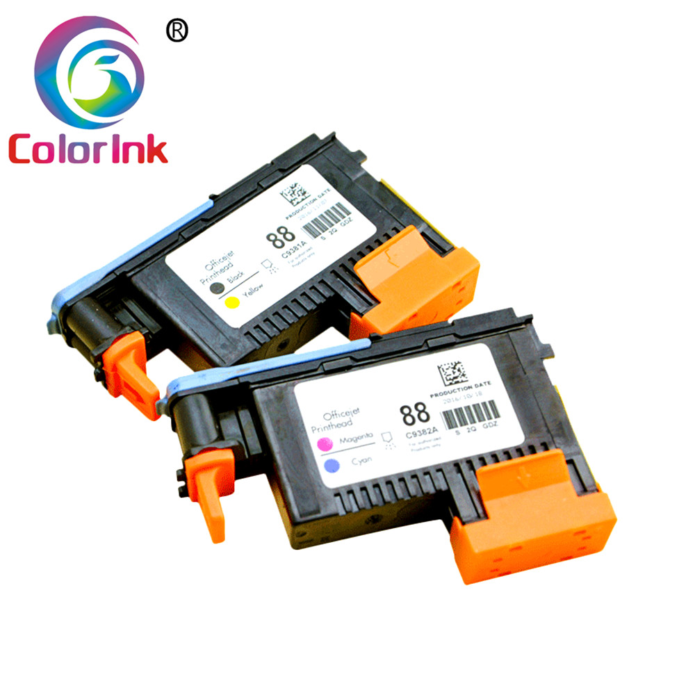 ColoInk 2pk For HP 88 Printhead C9381A C9382A 88 Print Head For HP Officejet Pro K5400 K550 K8600 L7480 L7550 L7580 L7590 L7650