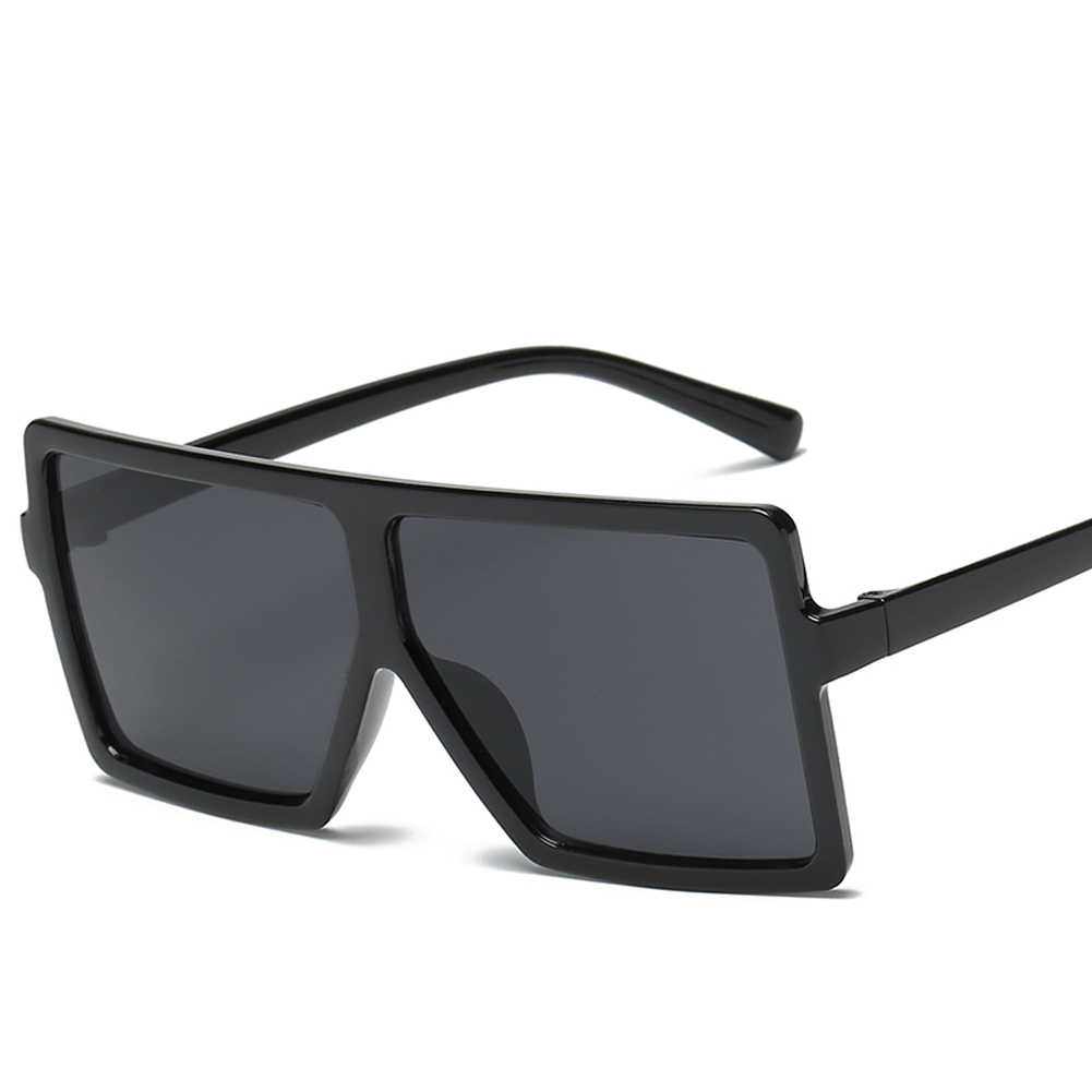 8ba23192ce3 samjune Brand retro Steampunk frame Square male Sunglasses Men All Black  oversized big sun Glasses for