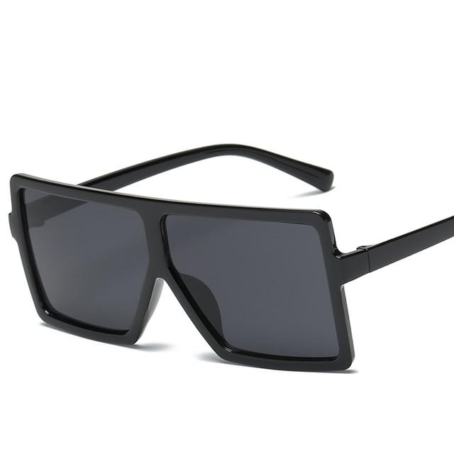 b47a50821ca samjune Brand retro Steampunk frame Square male Sunglasses Men All Black  oversized big sun Glasses for