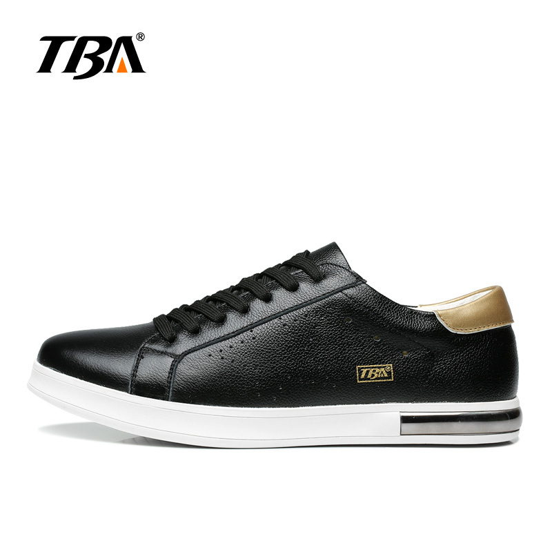 TBA Genuine Cow Leather Skateboarding Shoes Classic Men Outdoors Soft Sole Tenni Sneakers Rubber Zapatillas Trainer Sports Shoes