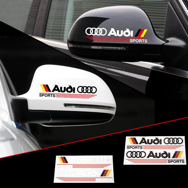 2 X Reflective Car Rearview Mirror Sticker And Decal German Flag For