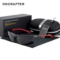 HDCRAFTER 2017 מעצב מותג משקפי שמש קיטוב איש משחק wqolutepce נהיגה Mg אל חצי מסגרות משקפיים משקפי Oculos Gafas דה סול