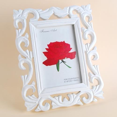 4*6inch Table photo frame pictur shelf White Vintage classical European wooden photo frame for Wholesale & Retail