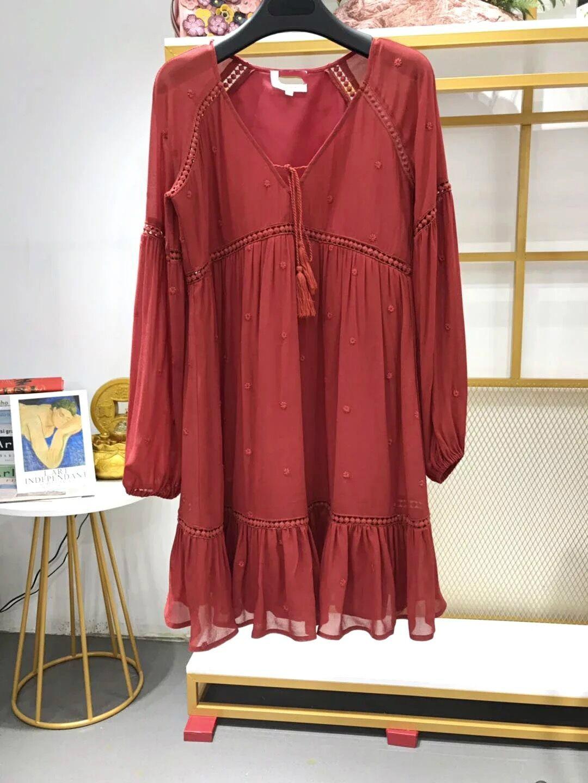 new french chic women Robe Aurlia Boho Dress deep V neck flower embroidery women mini dress