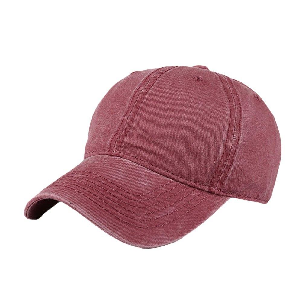 Hot-Cams,-Inc. Adjustable Wool Blend Ball Hat Mens Womens Wash Visor Hats