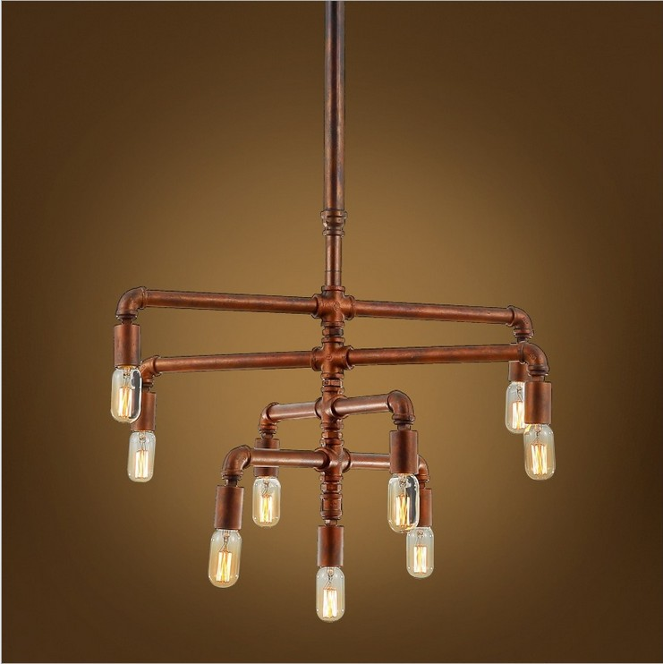 Online Get Cheap Old Chandeliers -Aliexpress.com | Alibaba Group:Nordic American industrial long pipe chandelier,Cafe Restaurant Bar LOFT do  the old creative lighting,Lighting