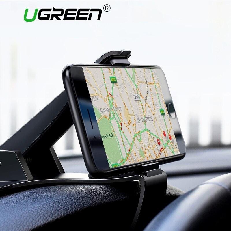 Ugreen teléfono del coche del tablero para el iPhone X Clip montaje ajustable soporte del sostenedor del teléfono móvil para Samsung GPS Car cuna