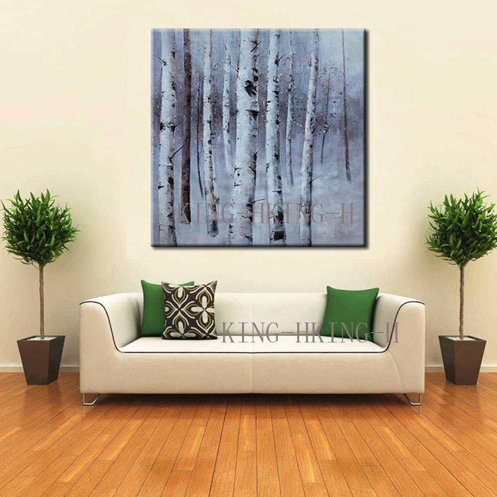 Hand knife thick oil painting abstract oil painting decorative plants trees household modern fashion style the hotel lobby sofa in Painting Calligraphy from Home Garden