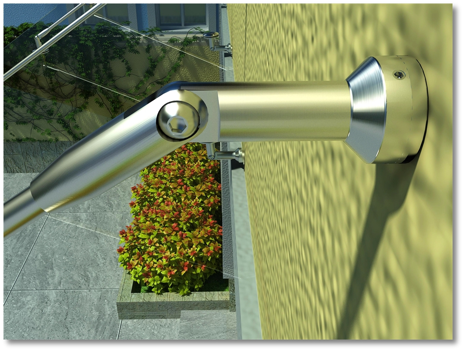KIN MADE Stainless steel Glass Canopy Kits/Awning for windows & doors Glass roof - 5