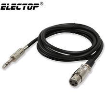 Electop-Cable Jack a XLR de 6,35mm/3,5mm, macho a hembra, Cable de Audio profesional para micrófonos, altavoces, amplificador de consolas de sonido