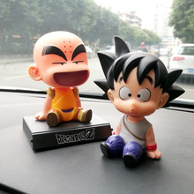Son Goku Monk font b Car b font Dashboard Decoration Toys Phone Holder Mobile Clip Shake