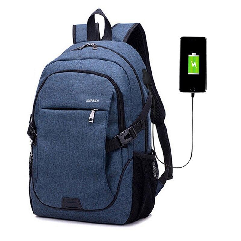 2019 Male Waterproof Casual Backbag School Backpack Laptop Bag Brand 15.6 Inch Notebook Mochila Backbag Backpack 32*18*48CM