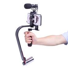 Handeld camera stabilizer steadicam 5D2 Video Smartphone Mobile Stabilizer steadycam Led Light Microphone for DSLR camera