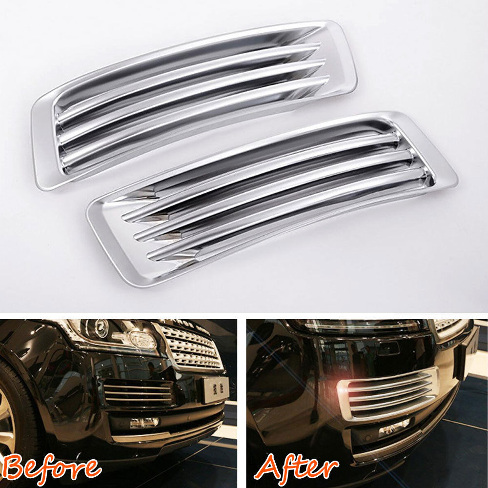 Car Front Fog Light Side Fender Air Vent Grill Trim Fit For Land Rover Range Rover 2013-2017 Car Styling Decoration Accessories for land rover range rover evoque car interior accessories rear air conditioning vent cover frame trim stickers 2014 2017