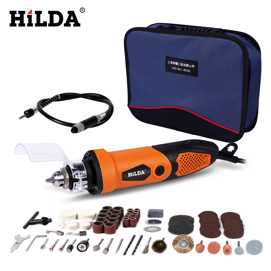HILDA 450W Electric Drill For Dremel Grinder Engraving Pen Grinder Mini Drill Electric Rotary Tool Grinding Machine hilda 115mm detailers grip attachment mini electric grinder handle grips bar for dremel rotary tool