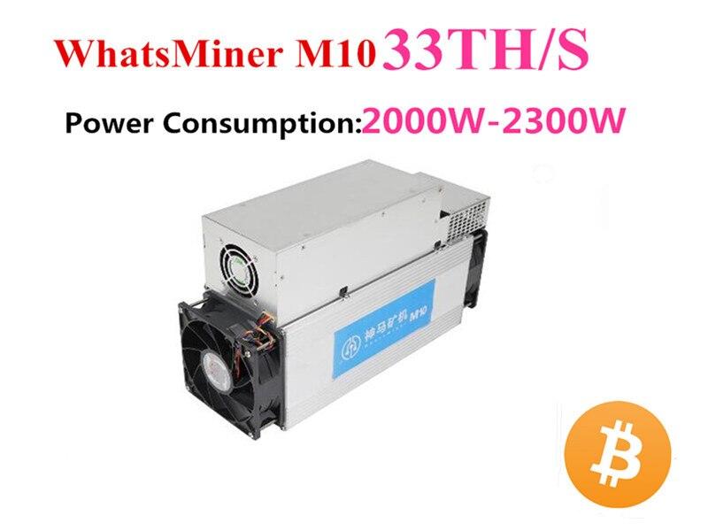 BCH BTC Mineiro Asic Bitcoin Miner WhatsMiner M10 33TH/S Com fonte de Alimentação Melhor Do Que M3 Antminer S9 S9i INNOSILICON S9j T2T