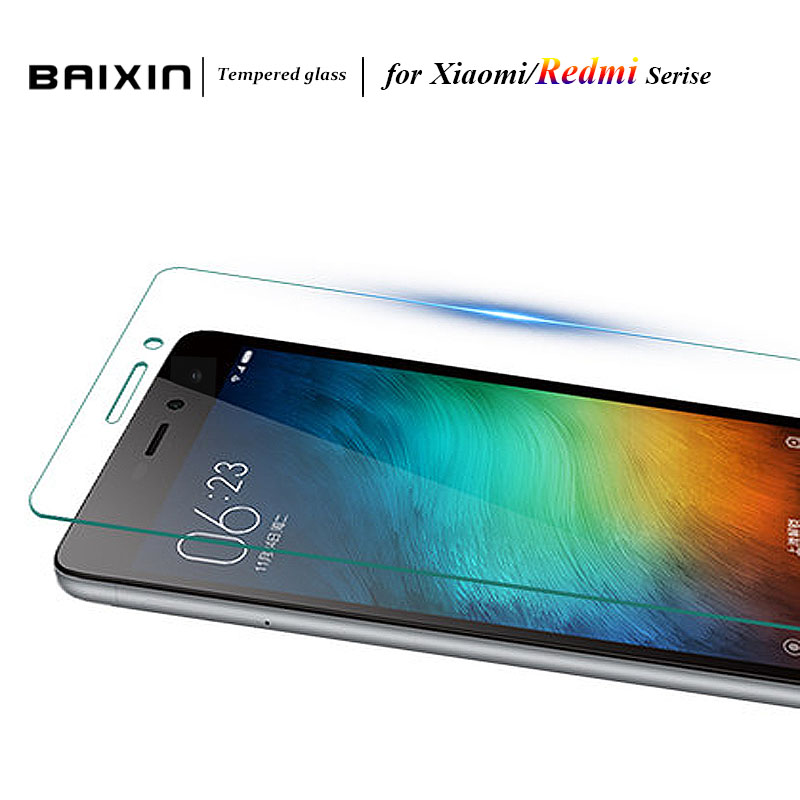 Baixin 2.5D Clear Screen Protector For Xiaomi Redmi 3 3s 2 Note 3 Pro Prime Tempered Glass Mi5 Mi4C Mi4i Mi4s Mi 4c 4i 4 3 Case
