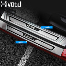 Hivotd For Mazda CX-5 CX5 2017 2018 2019 Car Door Sill Scuff Plate Welcome Pedal Stainless Steel Car Styling Auto Accessories недорого