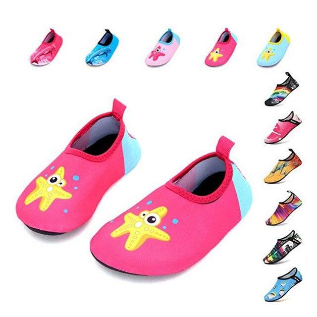 ילדי נעלי Colorfur קיץ חדש מגיע מים נעלי ילדים יחף נעלי ילדי נעלי בנות בני בריכת כפכפים מהיר Dryi