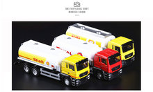 High Simulation Exquisite Diecasts & Toy Vehicles: RMZ city Car Styling MAN Oil Tank Truck 1:64 Alloy Truck Model Pull Back Cars