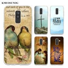 Transparent Soft Silicone Phone Case Bible verse Philippians For Samsung Galaxy A6 A6+ A9 A8 Star A8+ A7 A5 A3 Plus 2018 2016