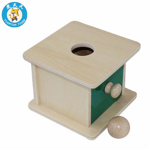 Montessori Shapes Preschool Toys Baby Learning Education Games Matching Drawer Imbucare Box With Ball