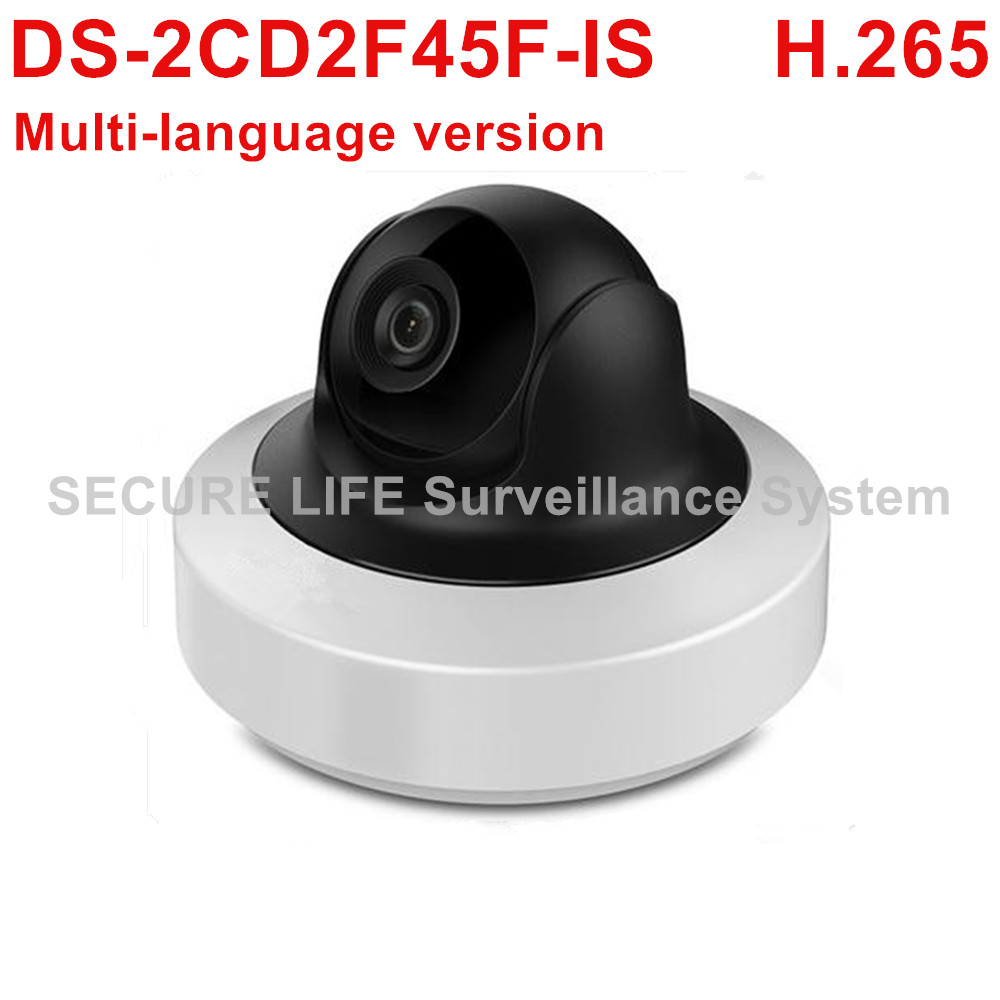 Multi-language version DS-2CD2F45F-IS 4MP WDR Mini PT Network IP Camera Support on-board storage H.265 PoE Audio touchstone teacher s edition 4 with audio cd