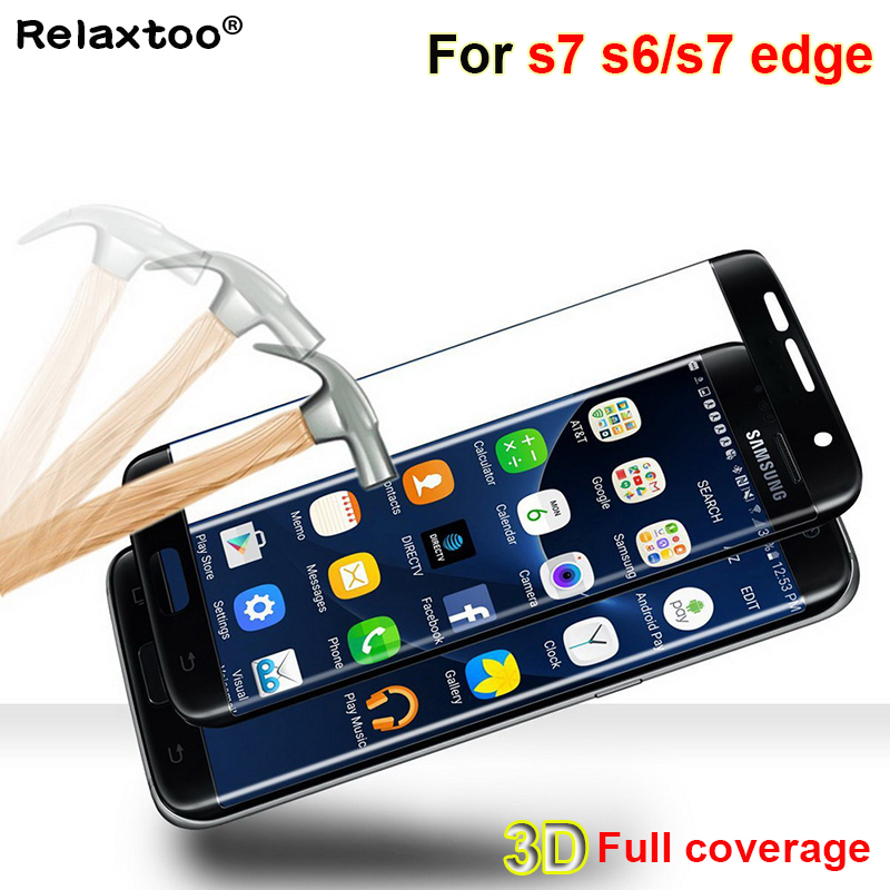 S6/s7 edge 3D curved Screen Protector For samsung galaxy s7 edge glass HD full cover Tempered For sumsung s 7 s6 edge plus glass