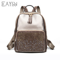 EAYIN Mini PU Leather Women Backpack Fashion Backpack Bling Sequins Small School Backpacks Gold Bag for Girls Backpack Women