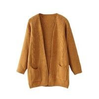 New Mohair Women S Cardigan Long Sleeved Loose Kimono Cardigan Knitted Sweater 2017 Winter Warm Women