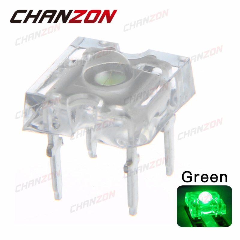 3mm Green Round Top Ultra Bright LED Bulbs Diodes Clear Lens