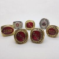 1954 1957 1961 1968 1970 2002 2014 Ohio States Buckeyes Football National Championship Rings Set